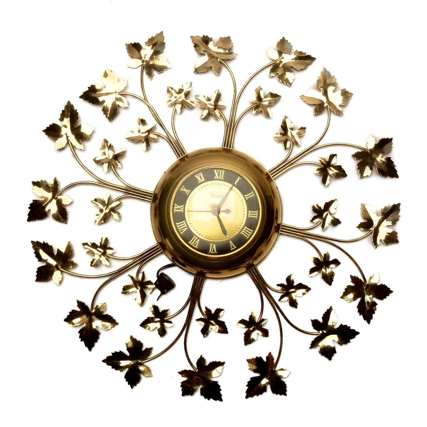 United Wall Clock with Maple Leaf Motif