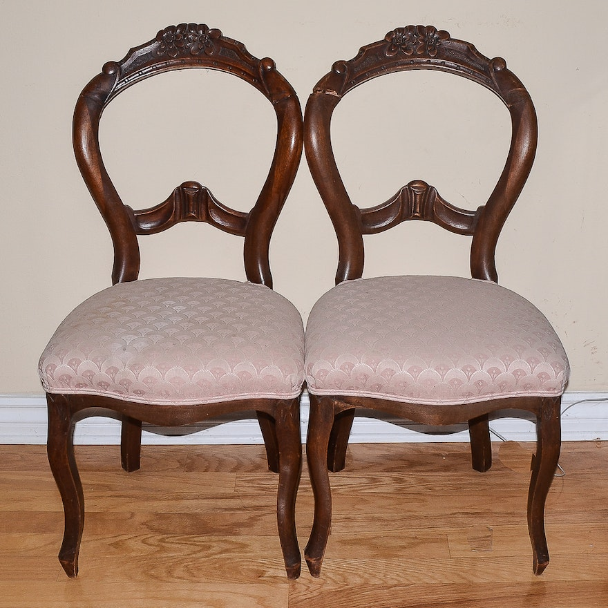 Antique Rococo Revival Balloon Back Chairs ... - Antique Rococo Revival Balloon Back Chairs : EBTH