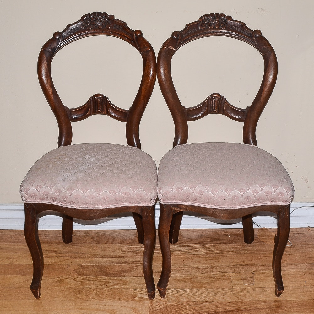Antique Rococo Revival Balloon Back Chairs ...