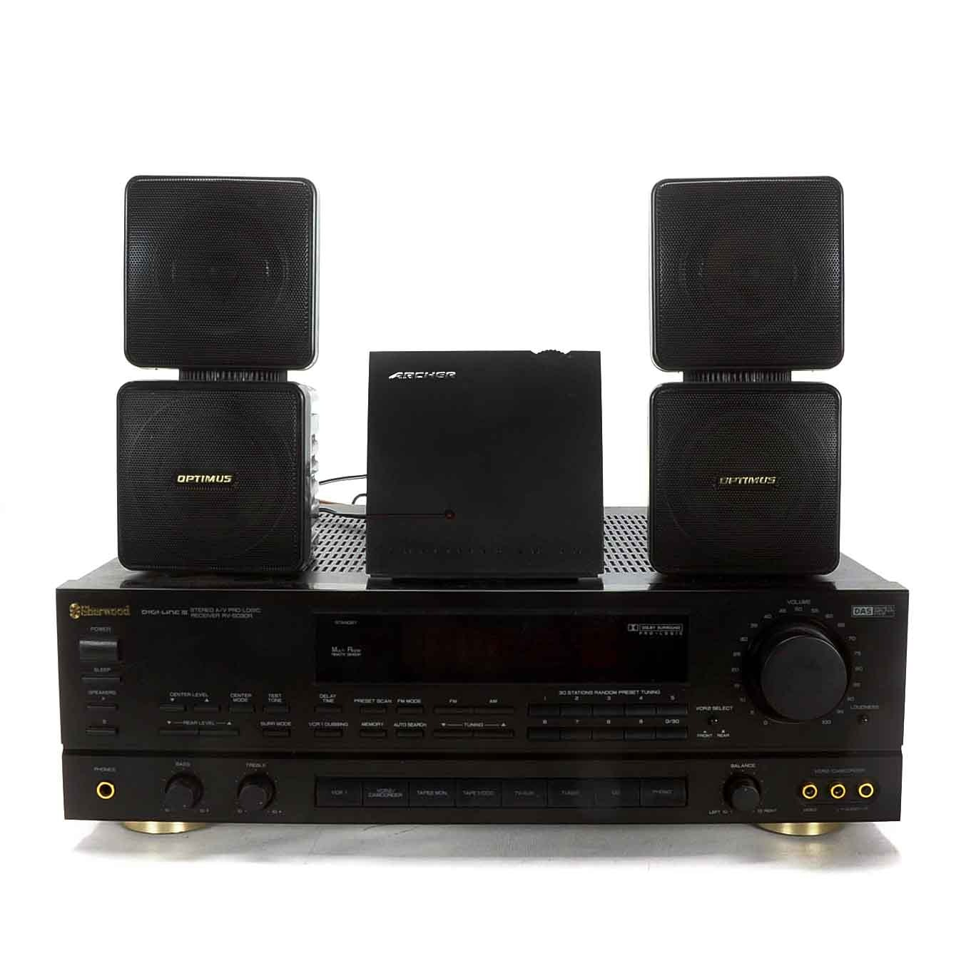 Sherwood RV-5030R ProLogic AV Receiver with Speakers
