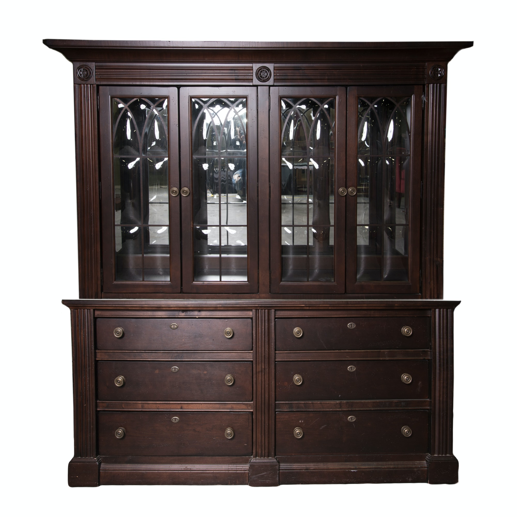 Contemporary Broyhill China Cabinet