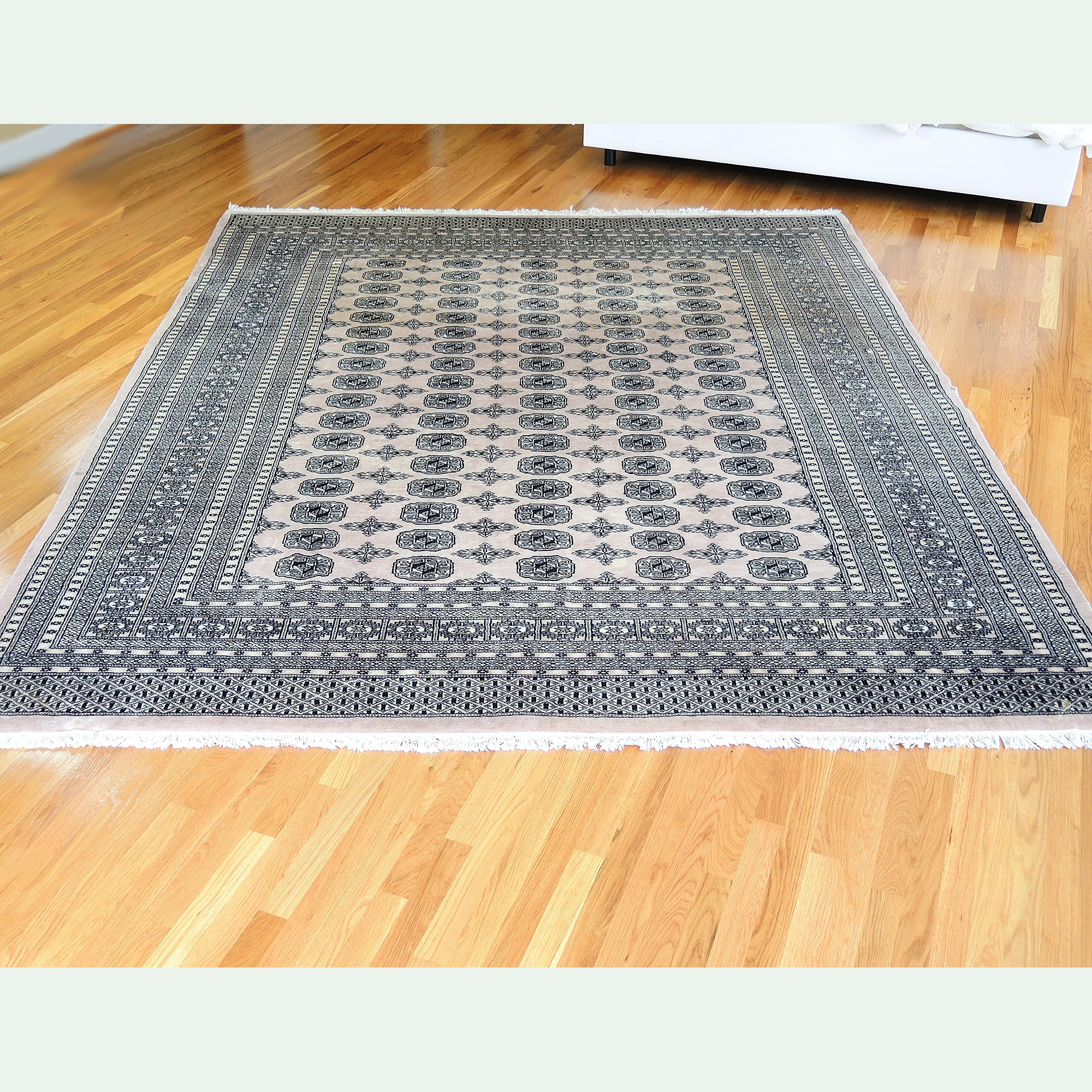 Hand-Knotted Bokhara Wool Area Rug