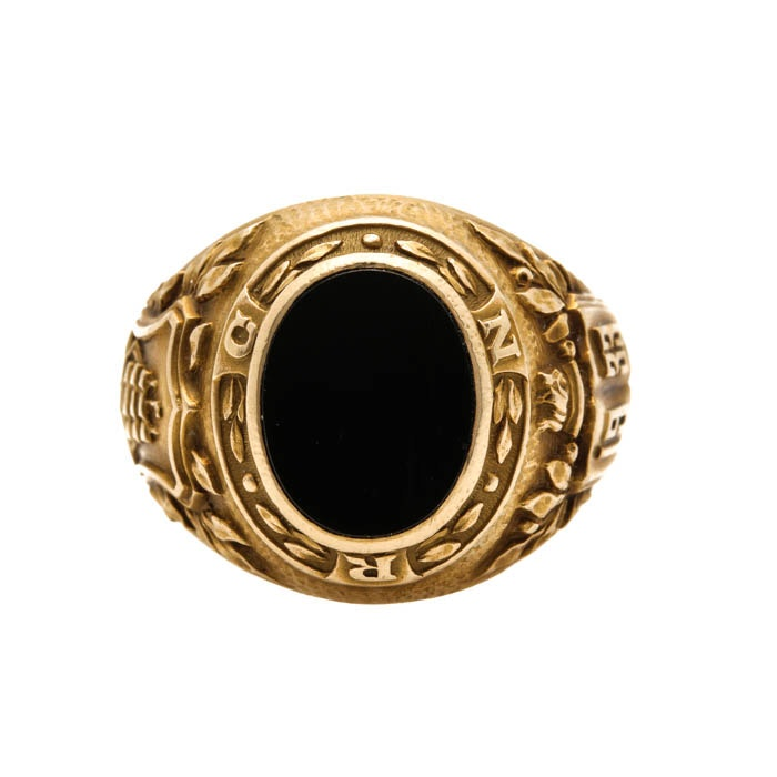 Vintage Tiffany & Co. 14K Yellow Gold Black Onyx Ring