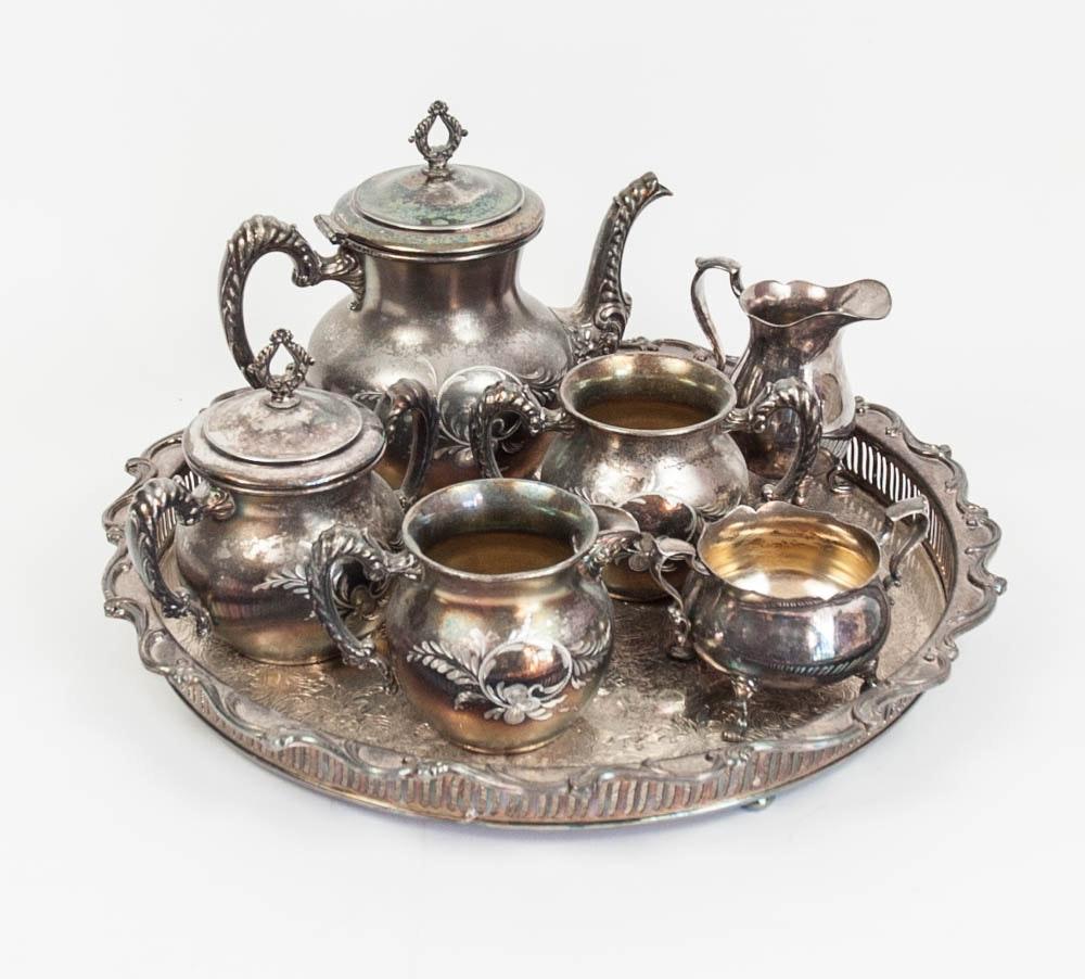 Richfield Plate Co. Quadruple Plate Tea Set and More