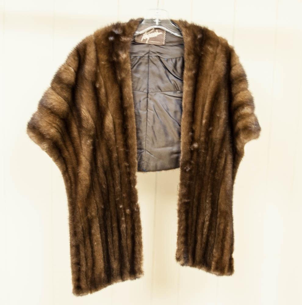 Vintage Pogue's Mink Fur Stole