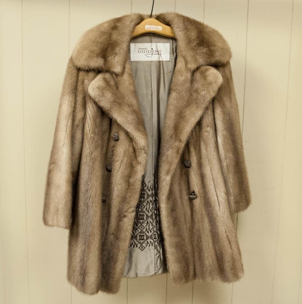 Vintage Mink Fur Coat from Sincerely, Gidding Jenny