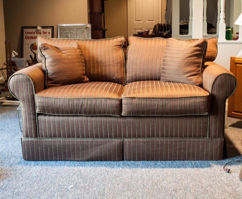 Brown Striped Sofa by Norwalk