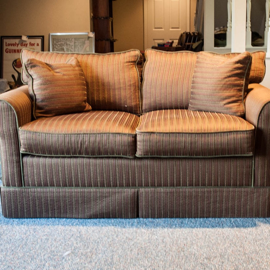 Norwalk Leather Sofa: Brown Striped Sofa By Norwalk