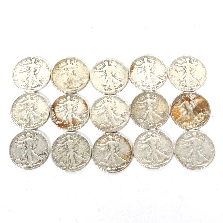 U.S. Silver Walking Liberty Half Dollars