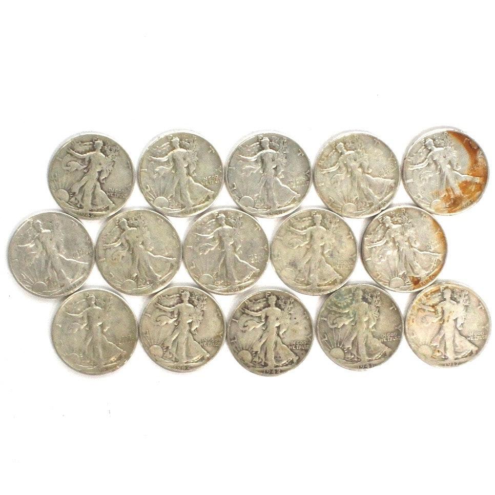 Walking Liberty Silver Half Dollars