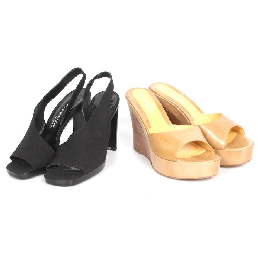 bc23de6c0d49 Via Spiga Black and Tan Shoe Pairing   EBTH