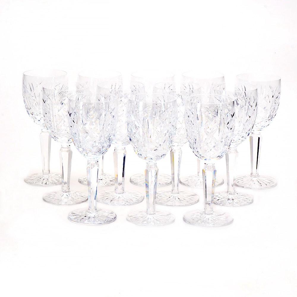 "Set of Waterford Crystal ""Glengarriff"" Wine Glasses"