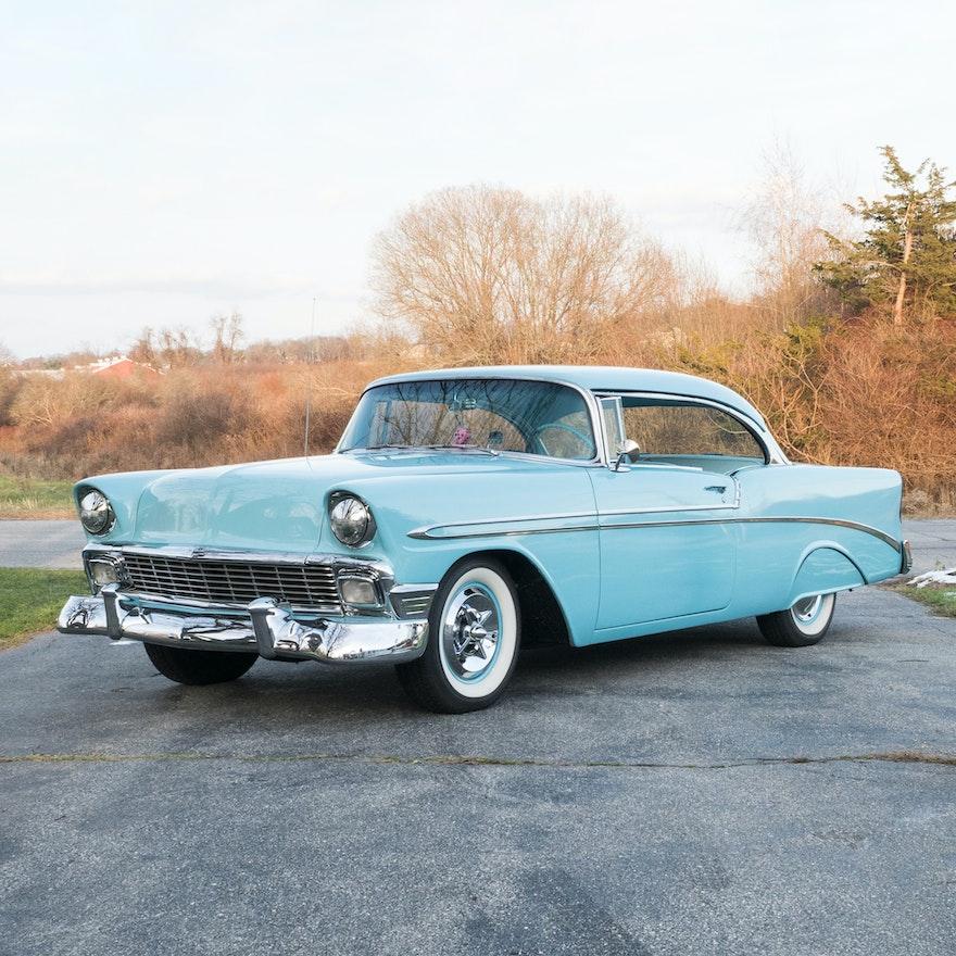 1956 Chevrolet Bel Air Nassau Blue Hardtop Coupe Ebth