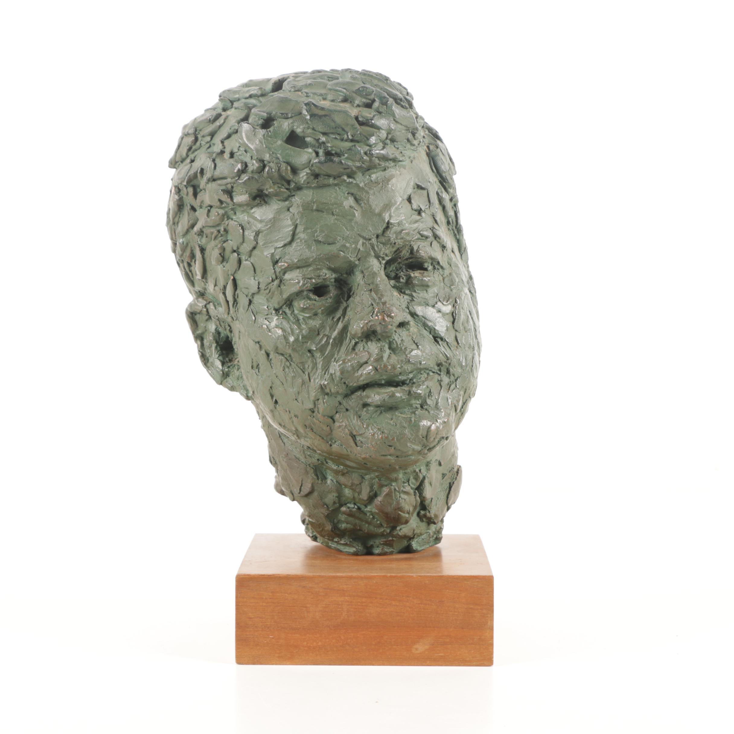 """Reproduction Bust After Robert Berks """"John F. Kennedy"""""""