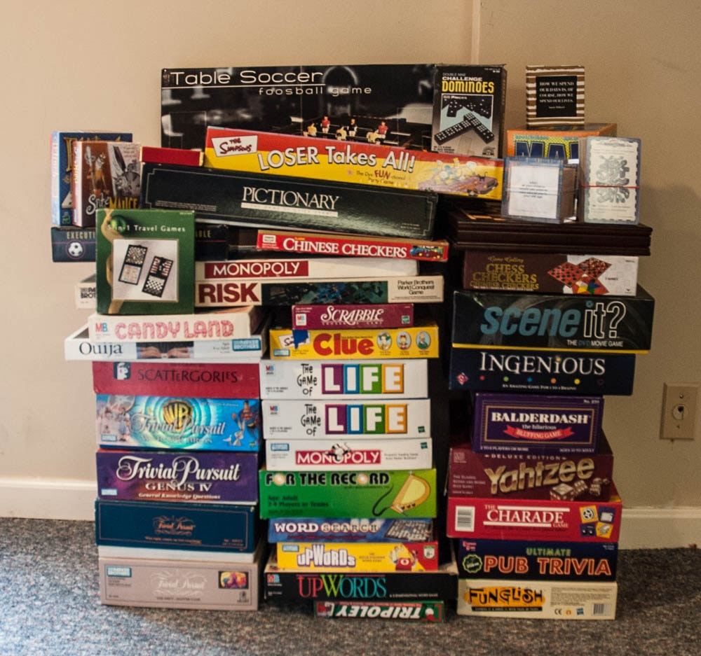A Large Collection of Board Games