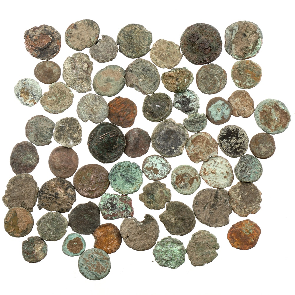 Fifty-Eight Bronze Ancient Roman Imperial Coins