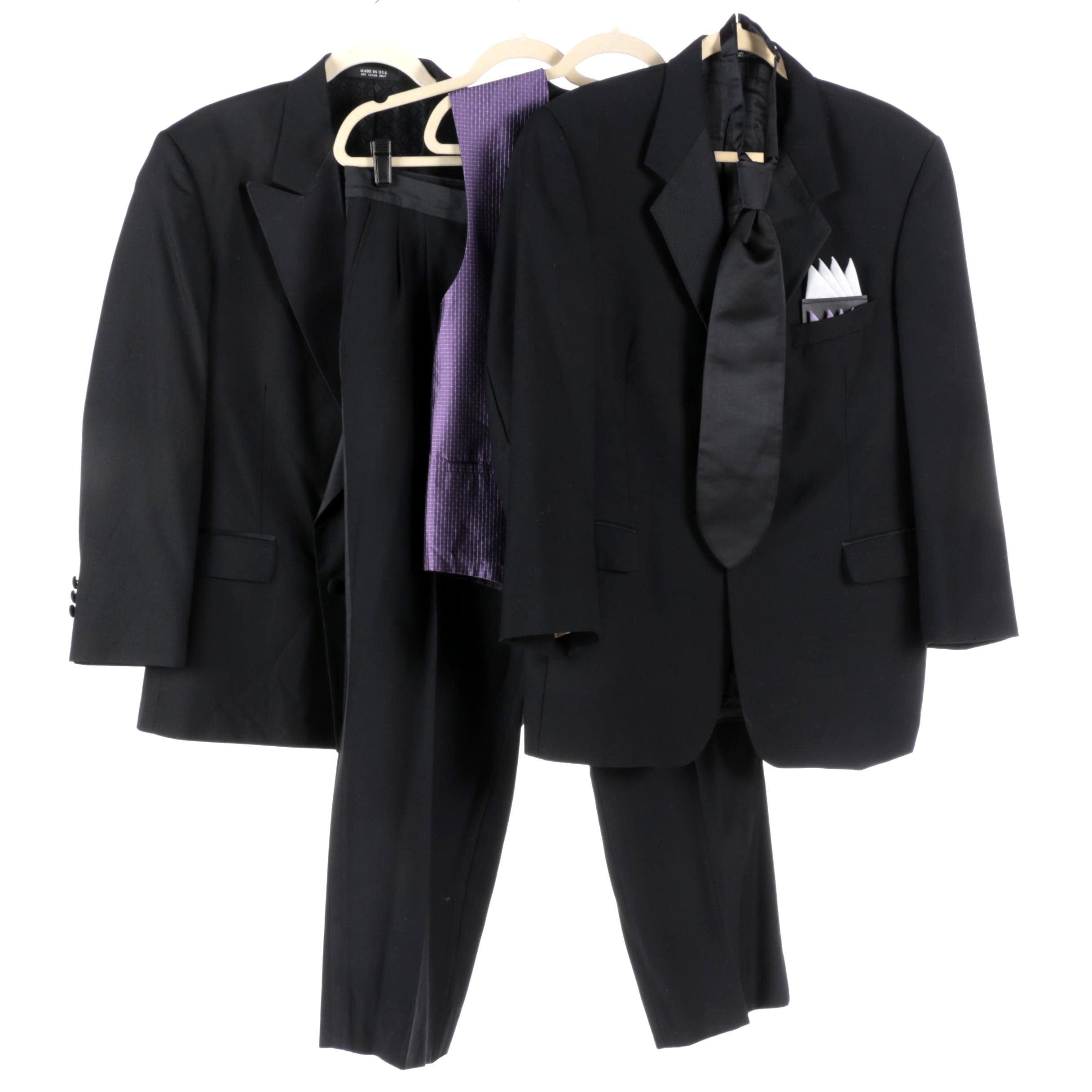 Men's Tuxedo, Jacket, Vest and Necktie