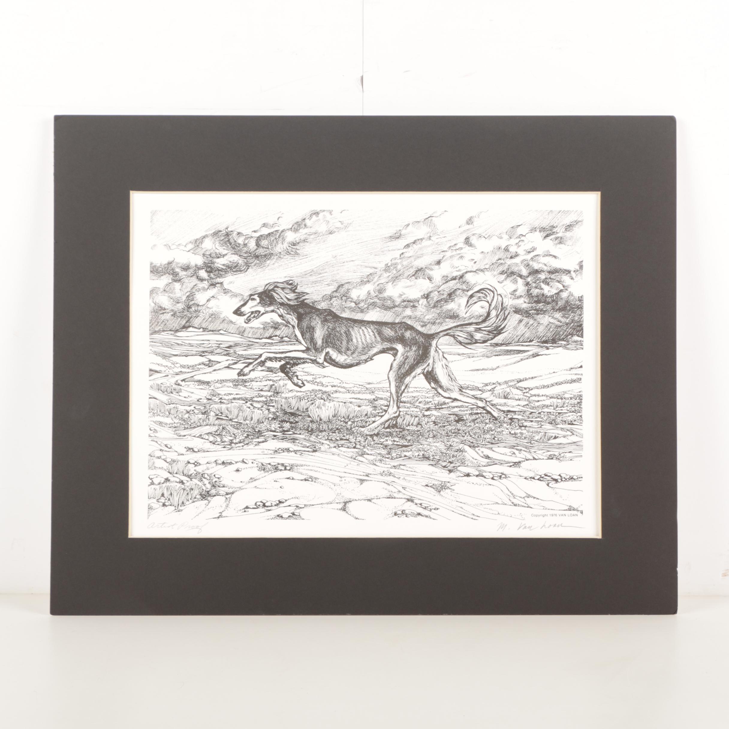 Martha Van Loan Artist's Proof Lithograph on Paper