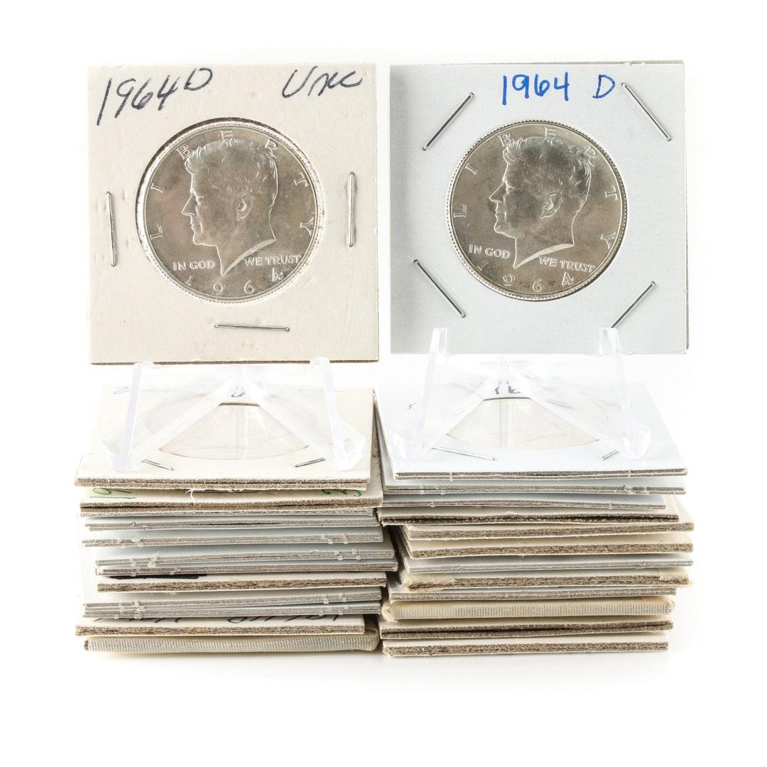 Twenty Six 1964 Kennedy Silver Half Dollars