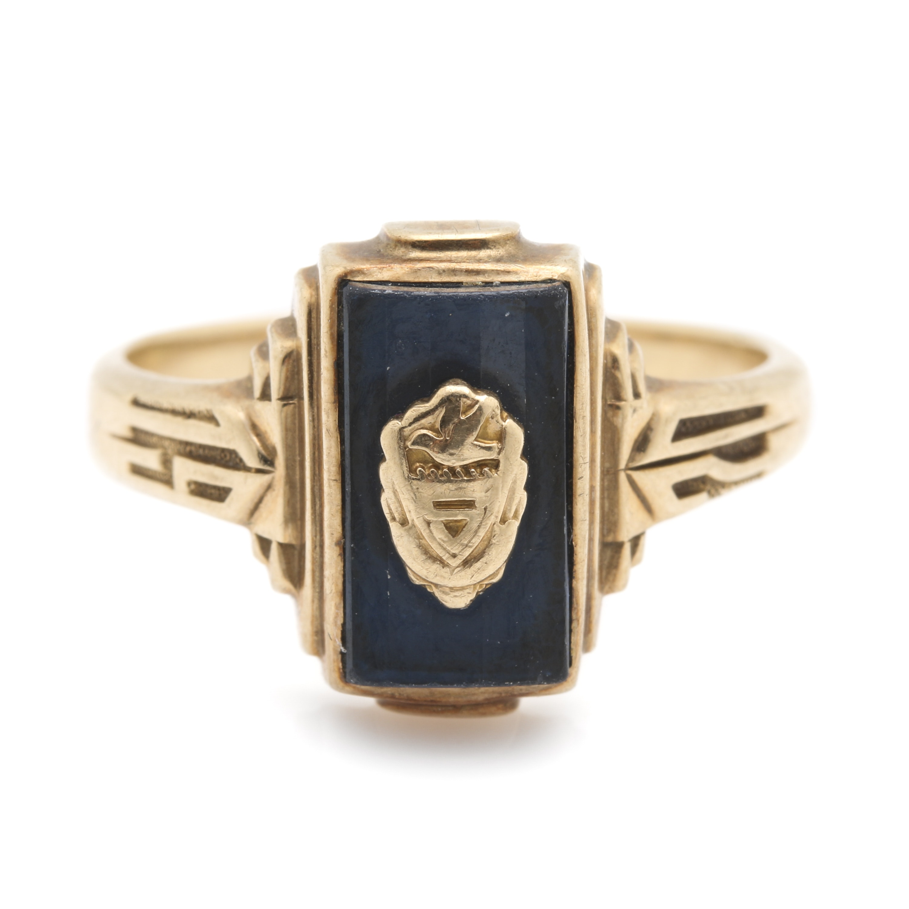 Jostens 10K Yellow Gold Spinel Class Ring