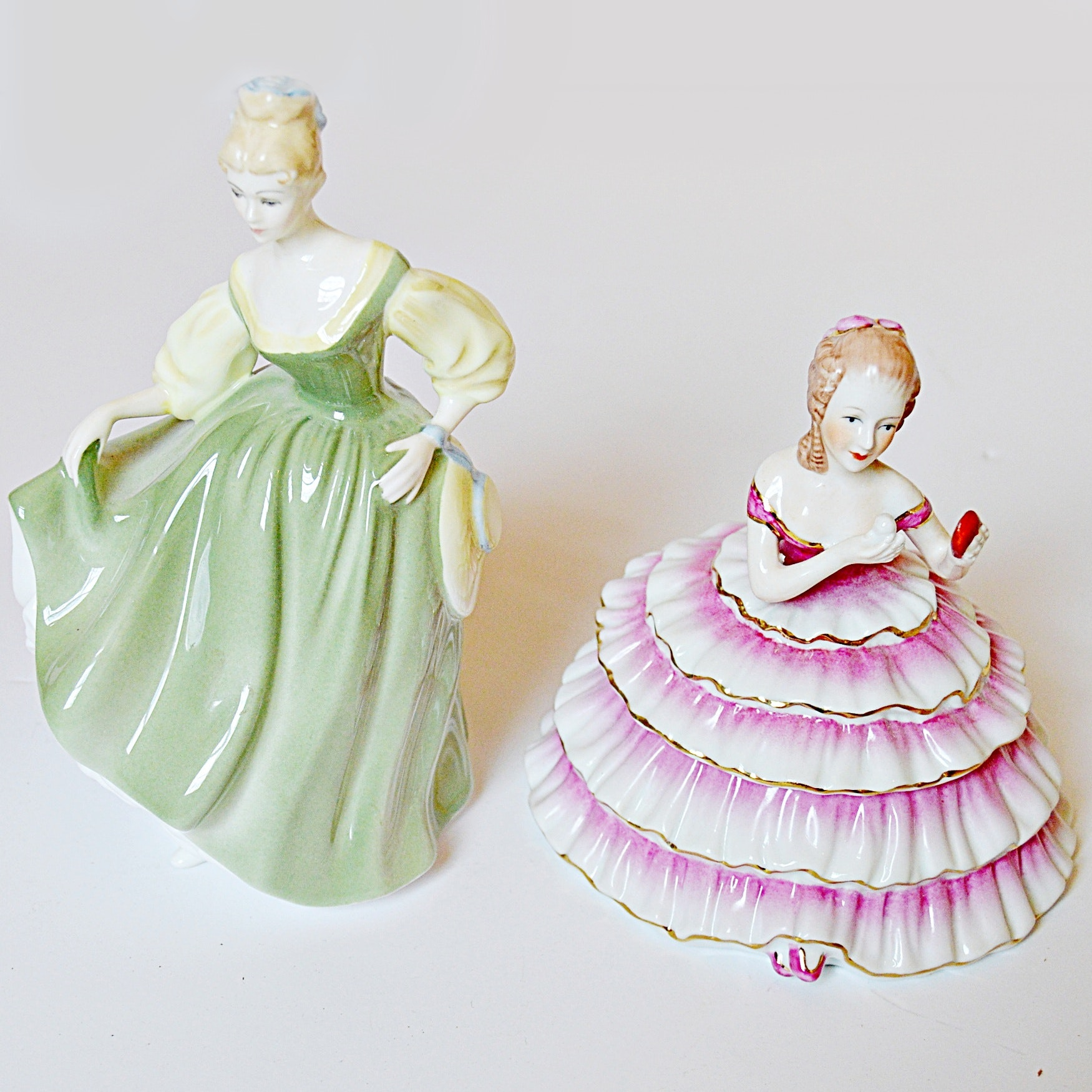 Royal Doulton and Limoges Figurines