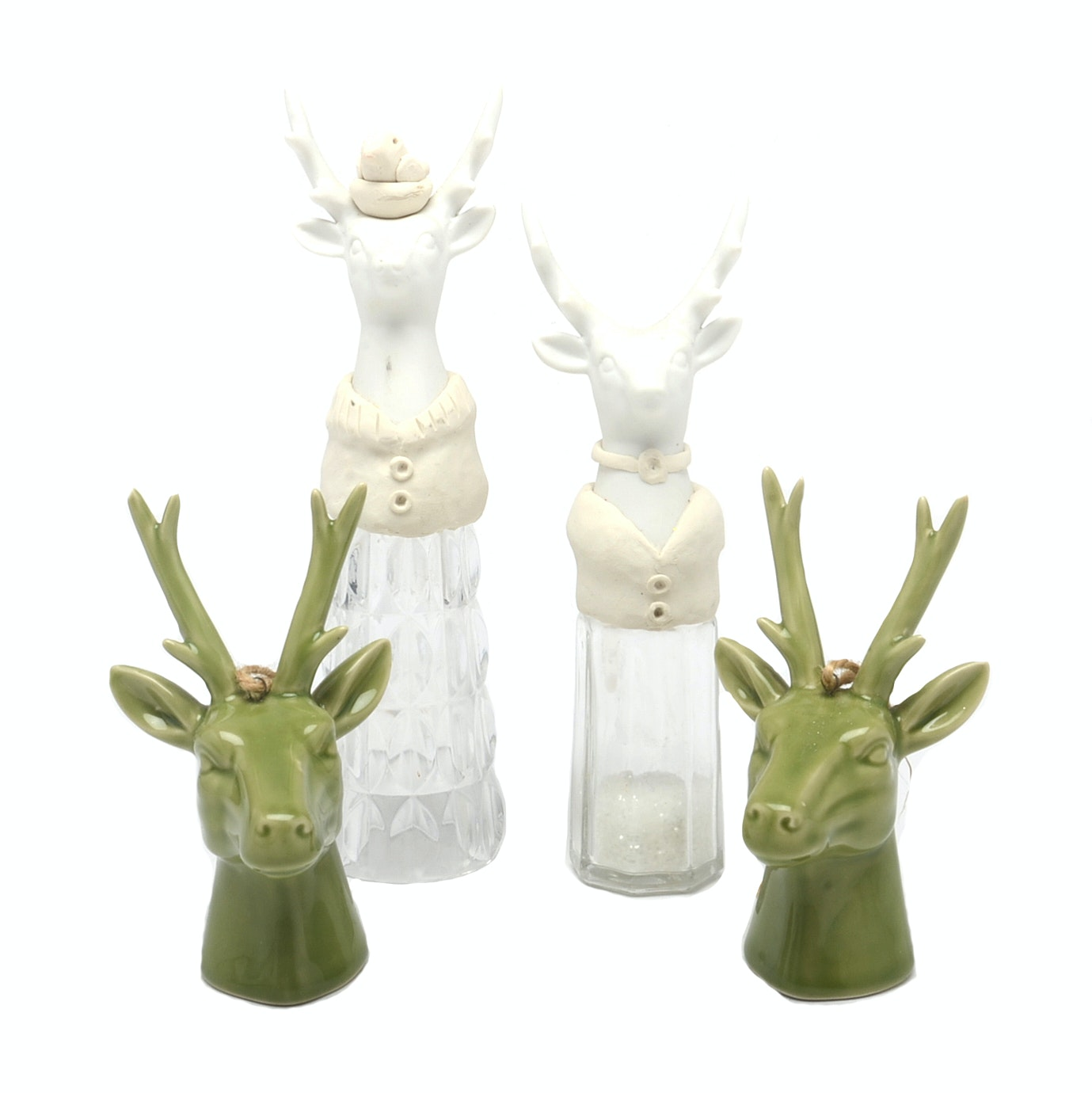 Collection of Deer Figurines and Ornaments