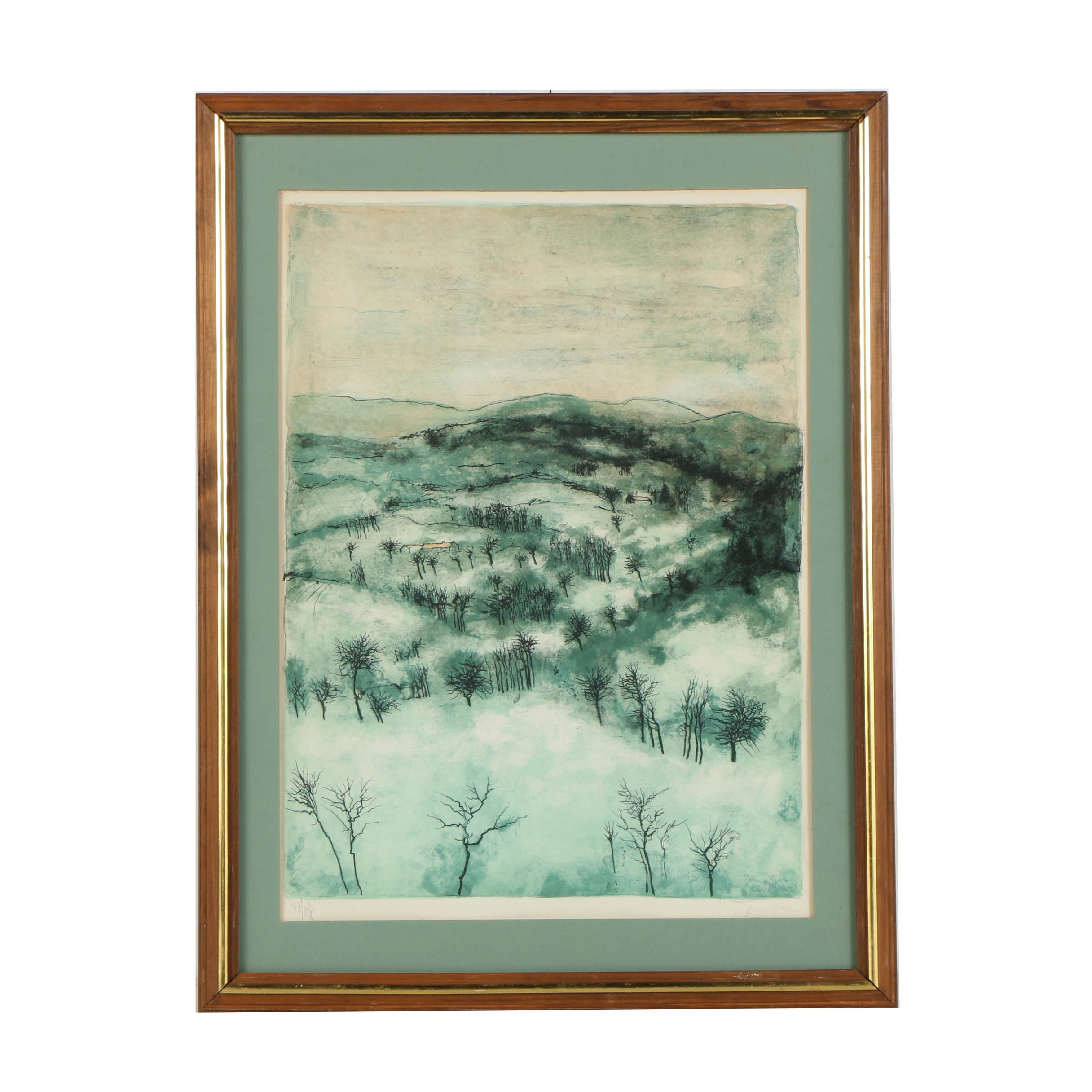 "Bernard Gantner Limited Edition Lithograph ""Dans les Vosges"""