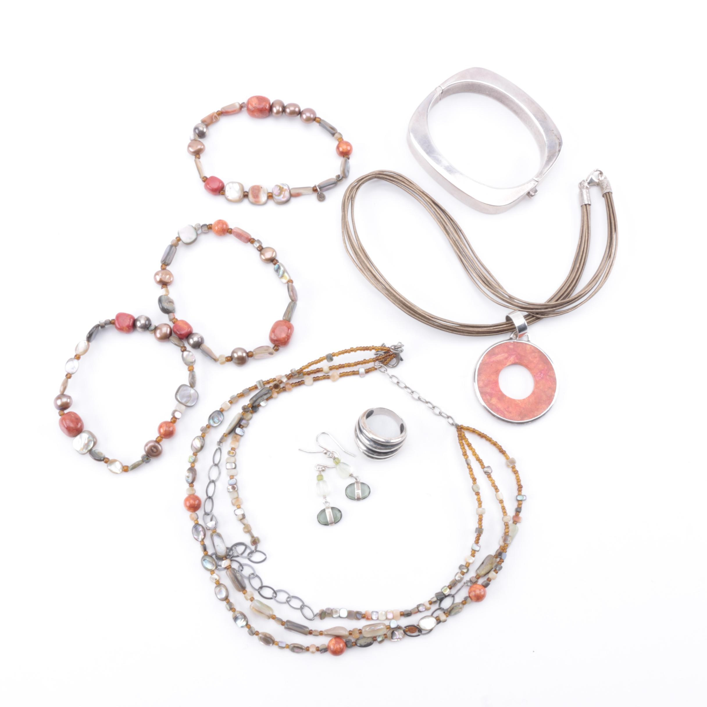 Collection of Costume Jewelry Including Sterling Silver