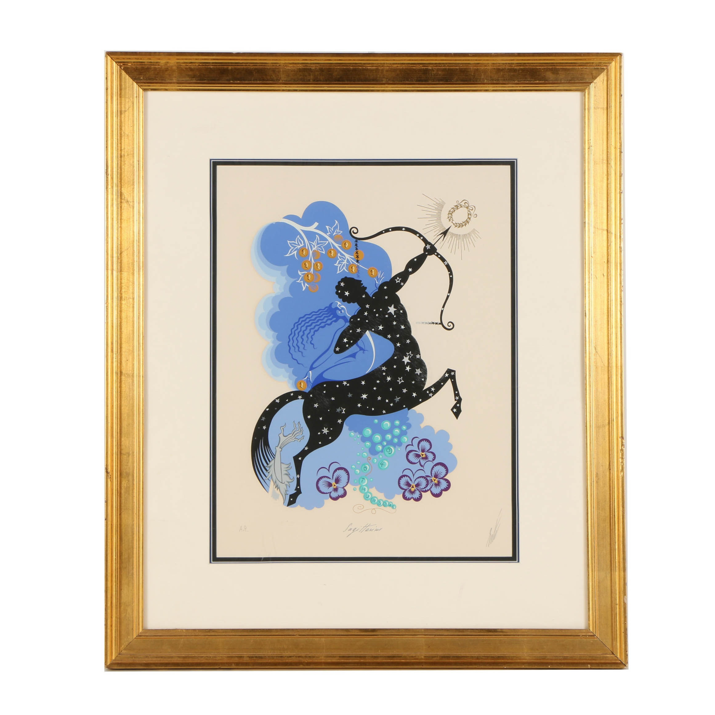 "Erté Artist Proof Serigraph on Paper ""Sagittarius"""