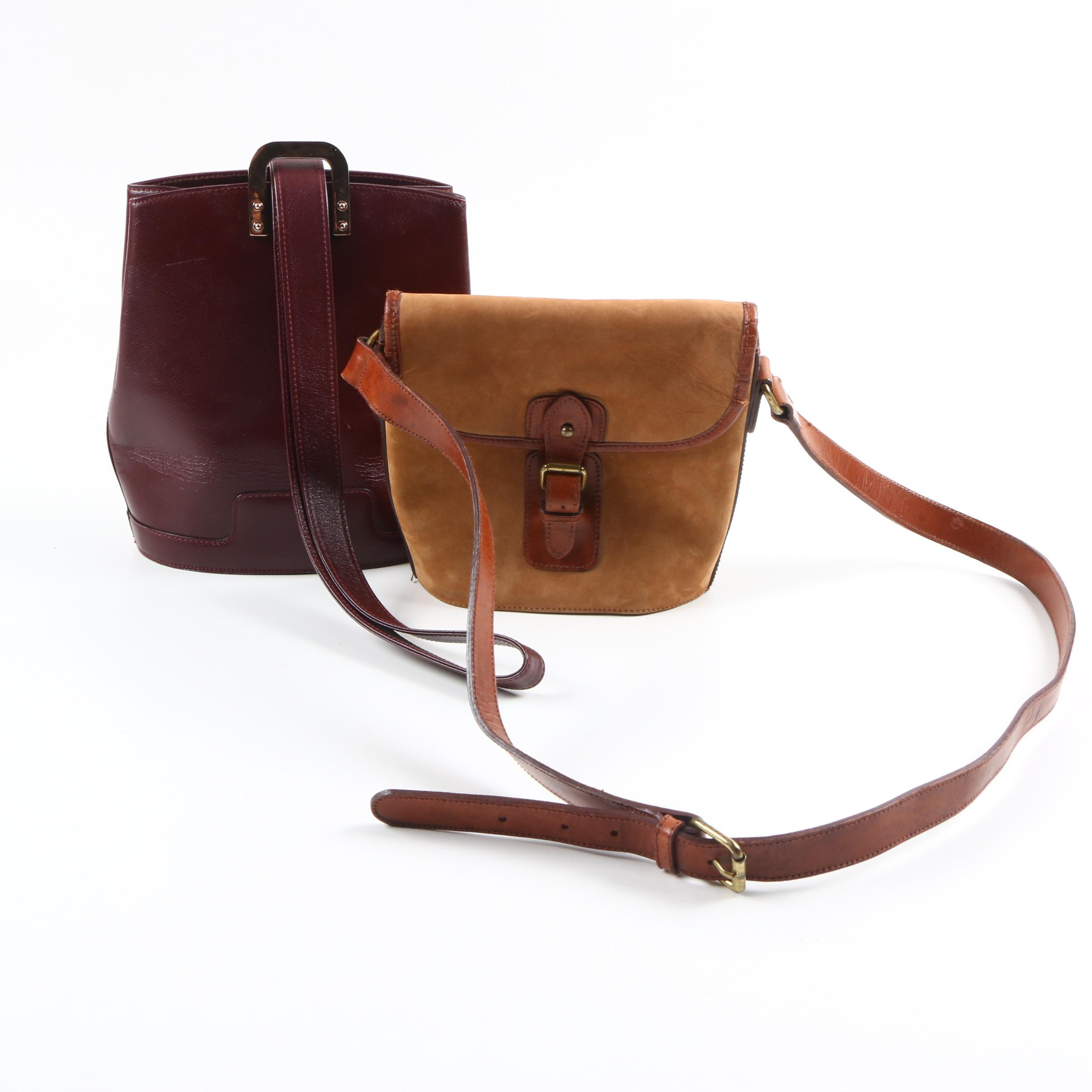 Valextra and Ralph Lauren Leather Shoulder Bags