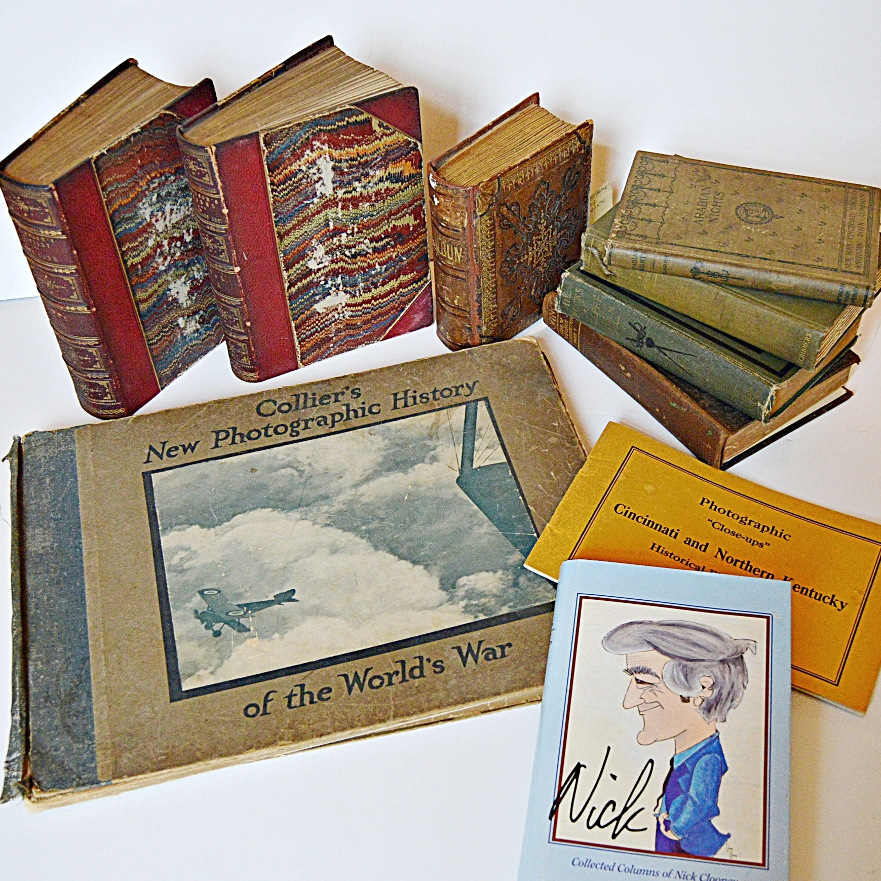 Antique and Vintage Books, with a Signed Nick Clooney