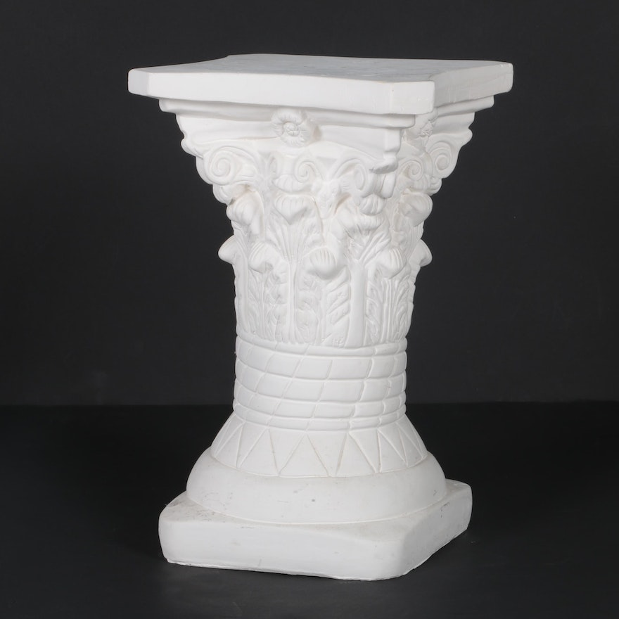 with pedestal entertaining for plaster halloween any pedestals stone occasion columns how or to and make decorate cover column faux