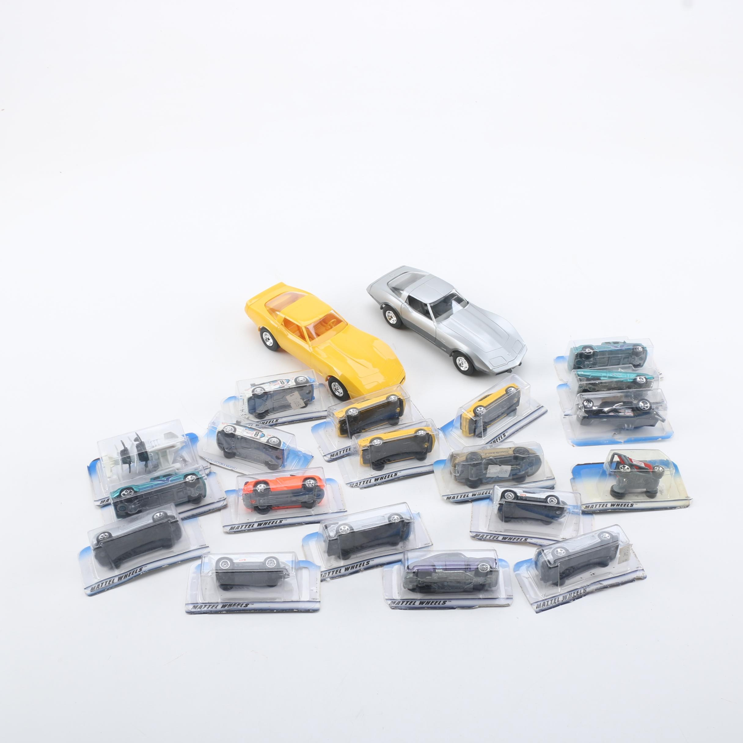Assorted 1990s First Edition Hot Wheels and Pair of Corvette Promo Cars