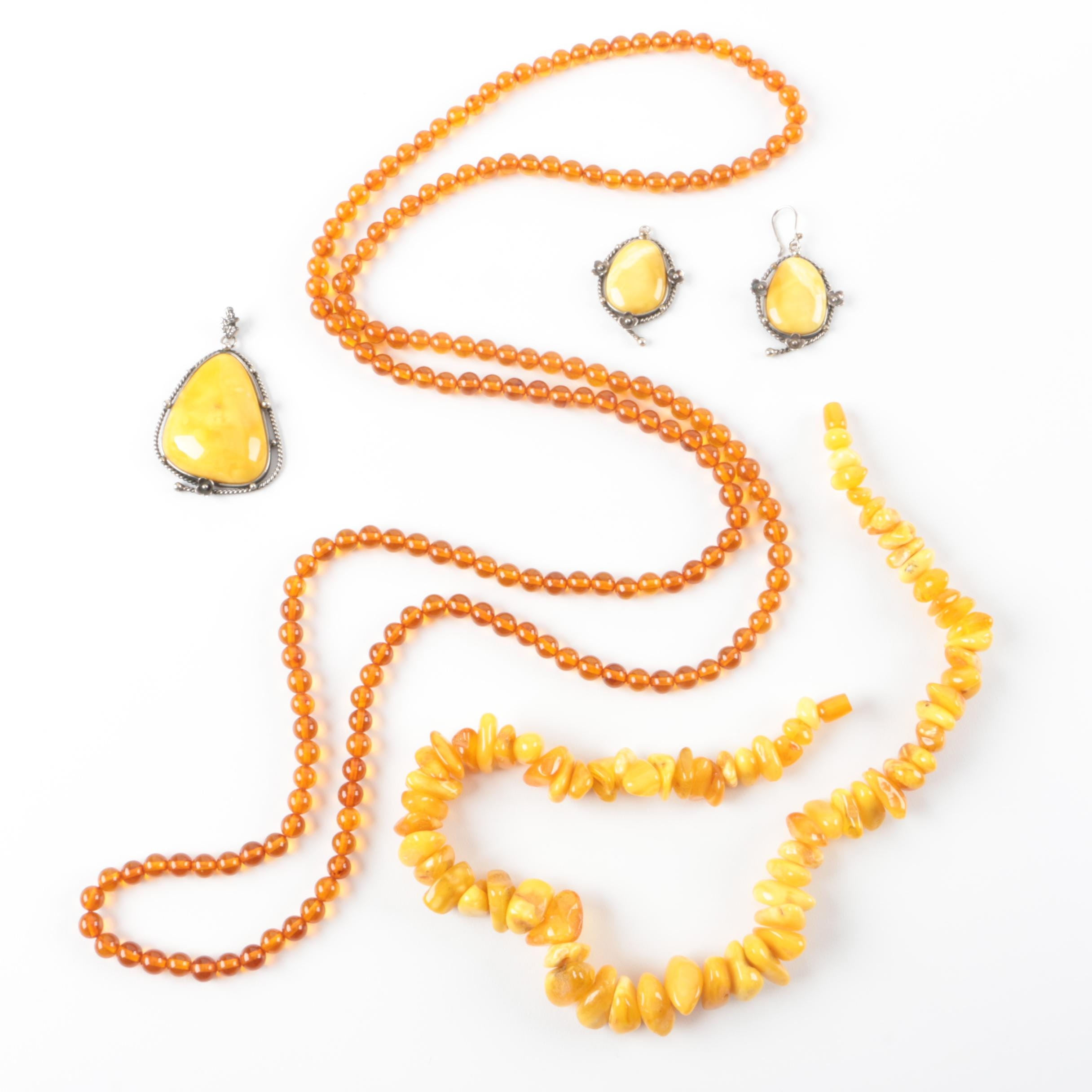 Amber and Mutton Fat Amber Jewelry