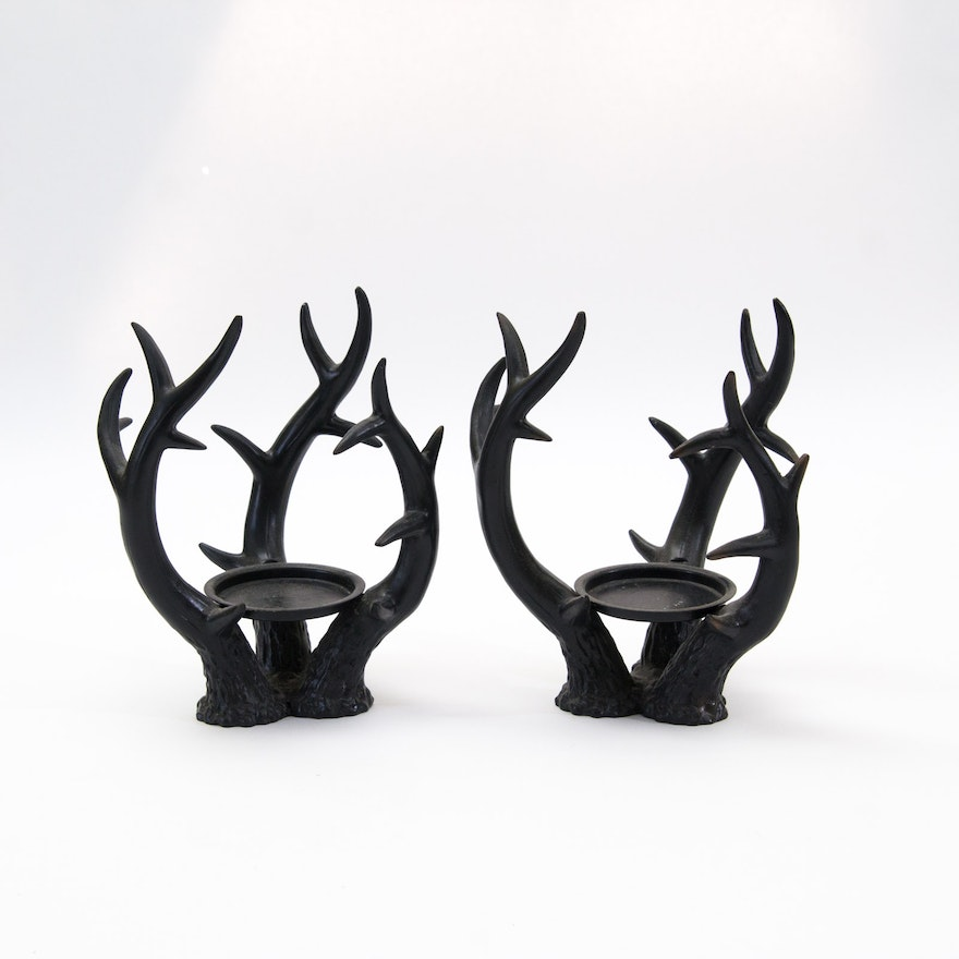 Faux Antler Candle Holders