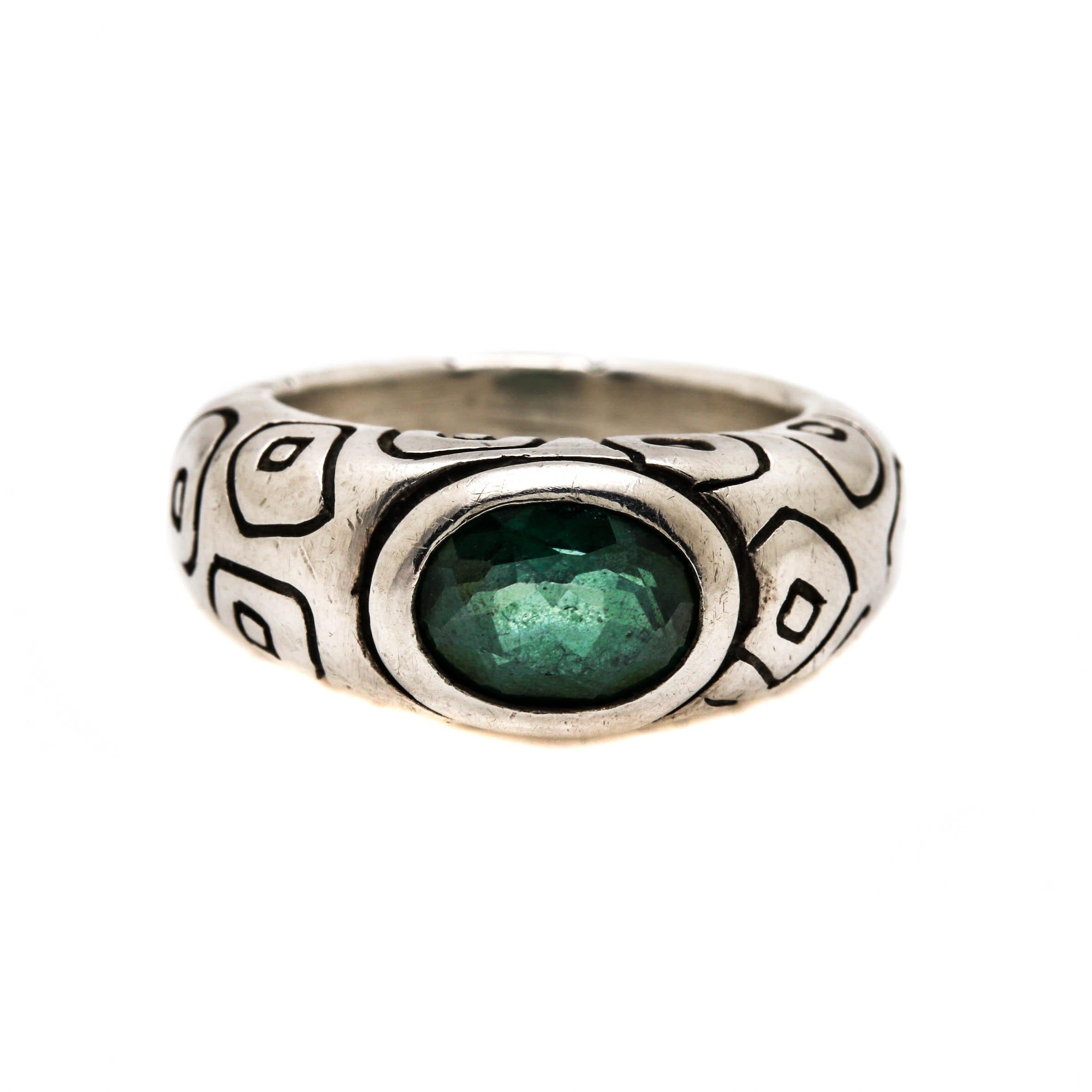 Lisa Jenks Sterling Silver Topaz Ring