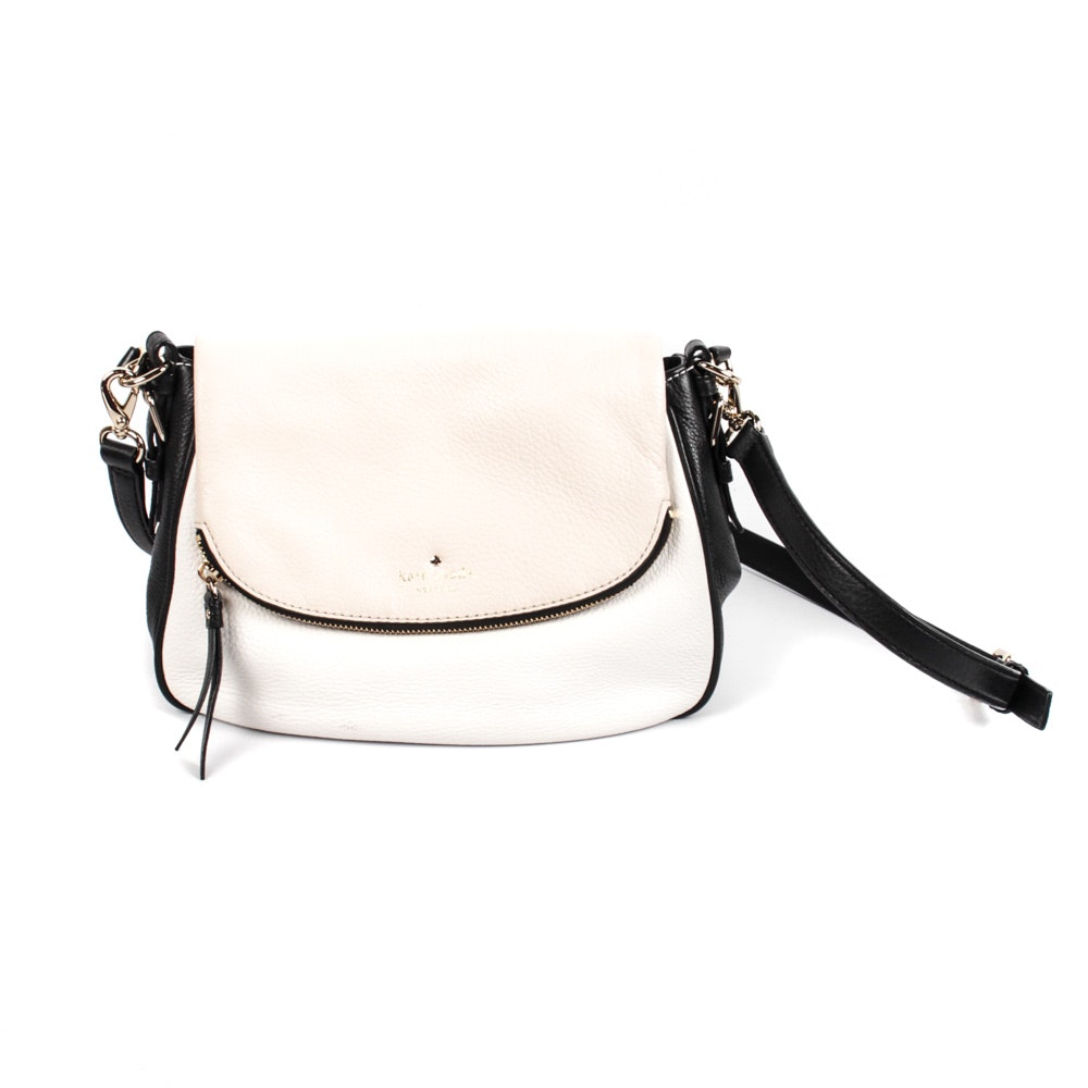 Kate Spade Cobble Hill Devin Black and White Satchel