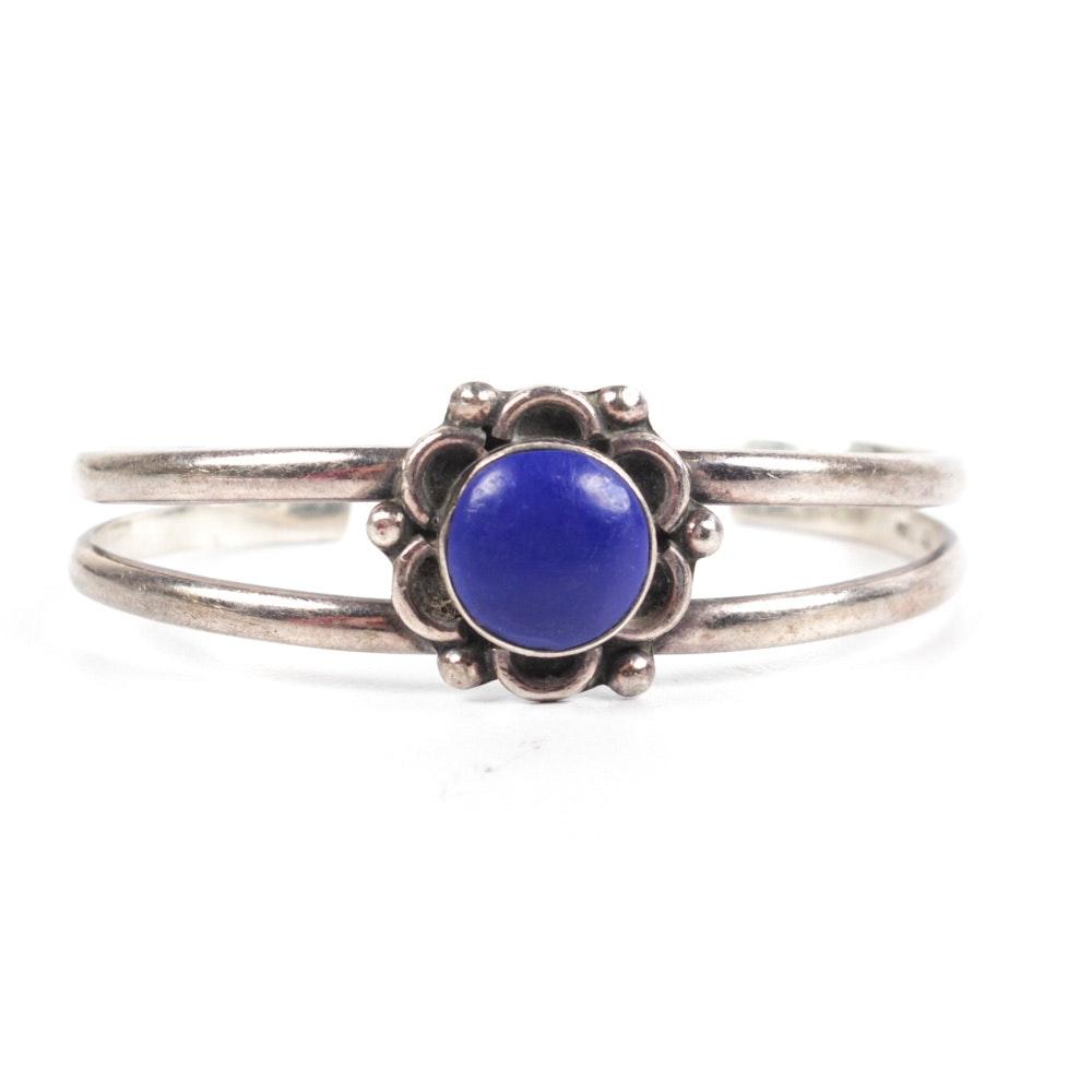 Sterling Silver Natural Lapis Lazuli Cuff