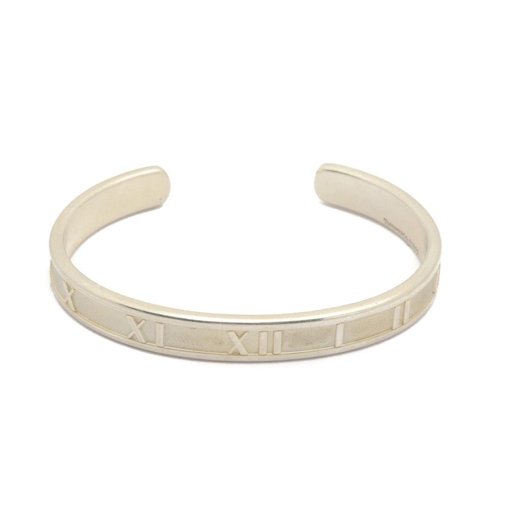 """Tiffany & Co. Sterling Silver """"Atlas"""" Cuff Bracelet"""