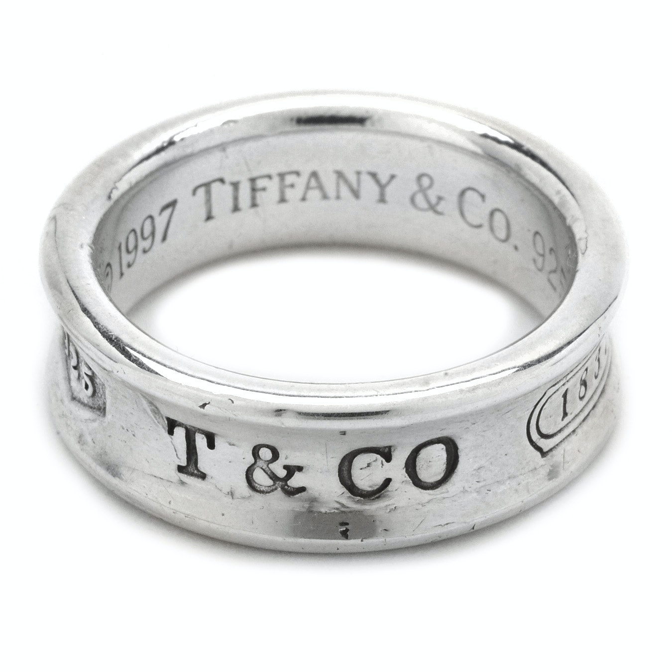 """Tiffany & Co. Sterling Silver """"1837"""" Ring"""