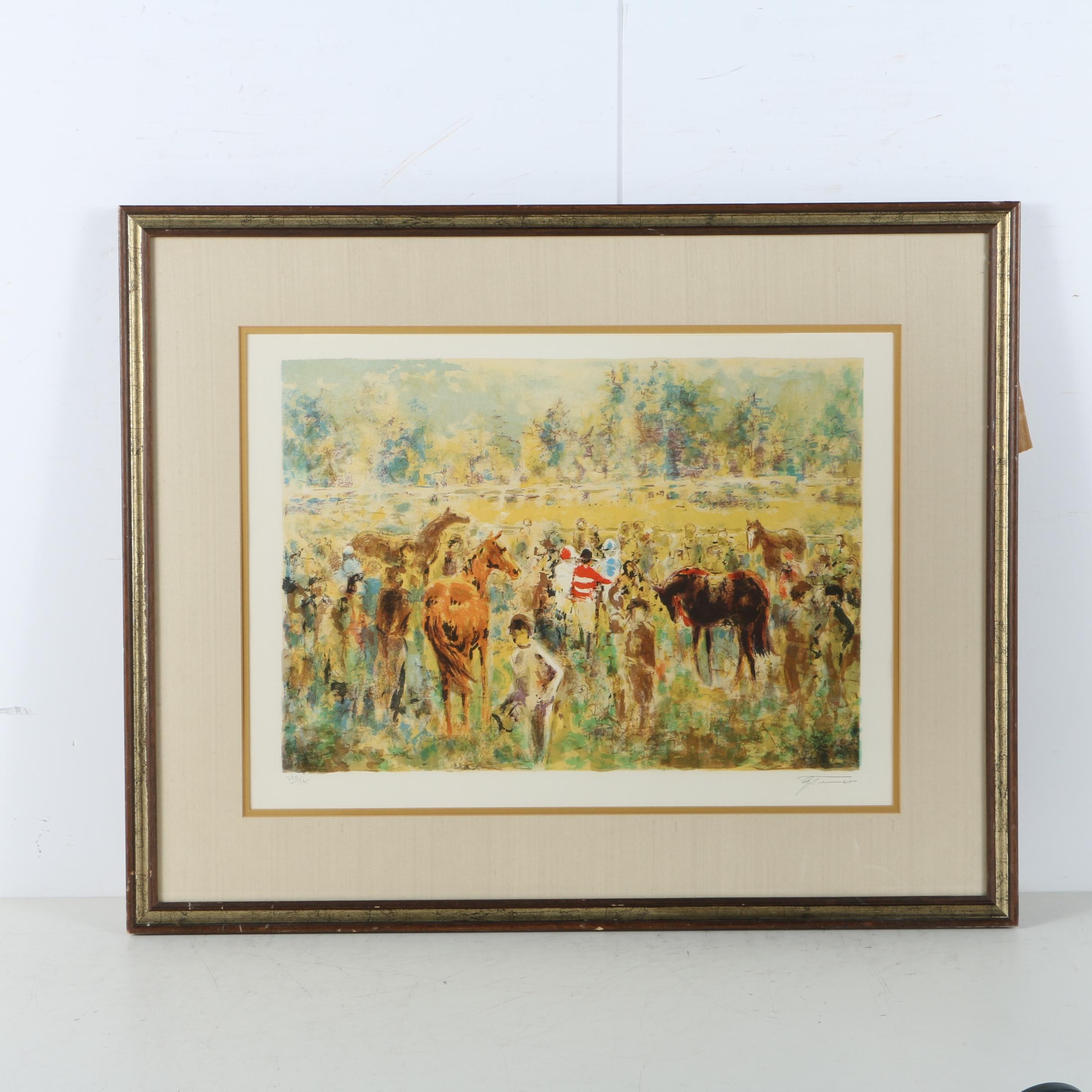 """Limited Edition Color Lithograph After """"Winner's Circle"""" by Georges Trincot"""