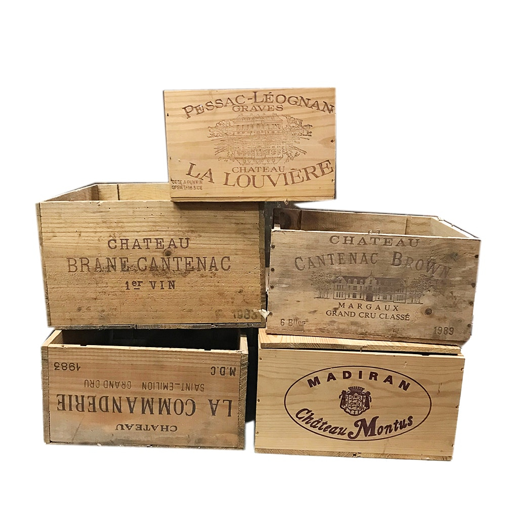 Vintage Wood French Wine Crates