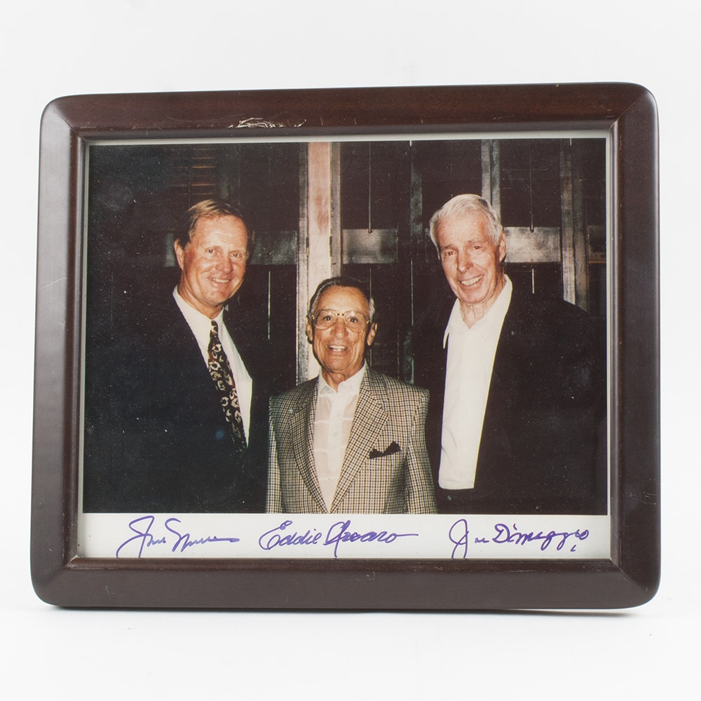 Jack Nicklaus, Eddie Arcaro, and Joe DiMaggio Autographed Photo
