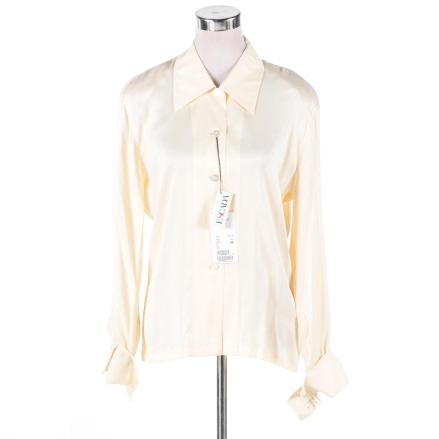 08227c3b6137bb Women s Escada Cream-Colored Silk Blouse   EBTH