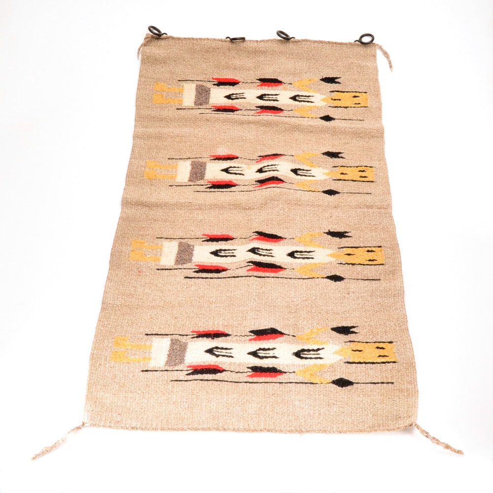 Handwoven Mexican Wool Accent Rug