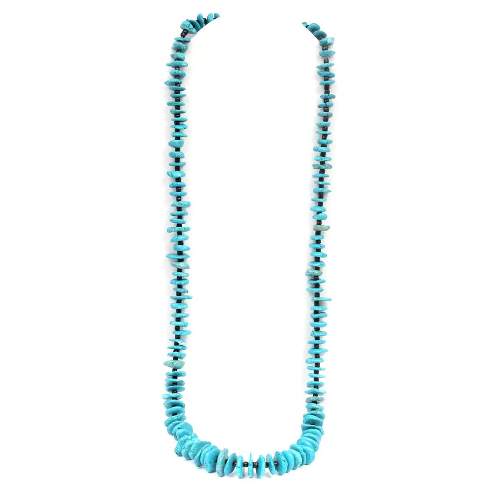 Turquoise Tapering Chip Necklace Strand