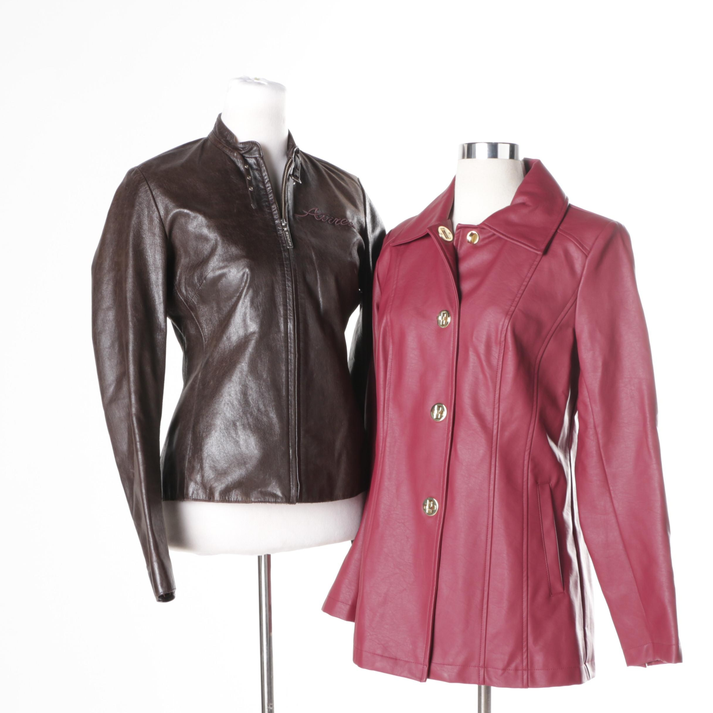 Women's Leather Jackets Including Avirex