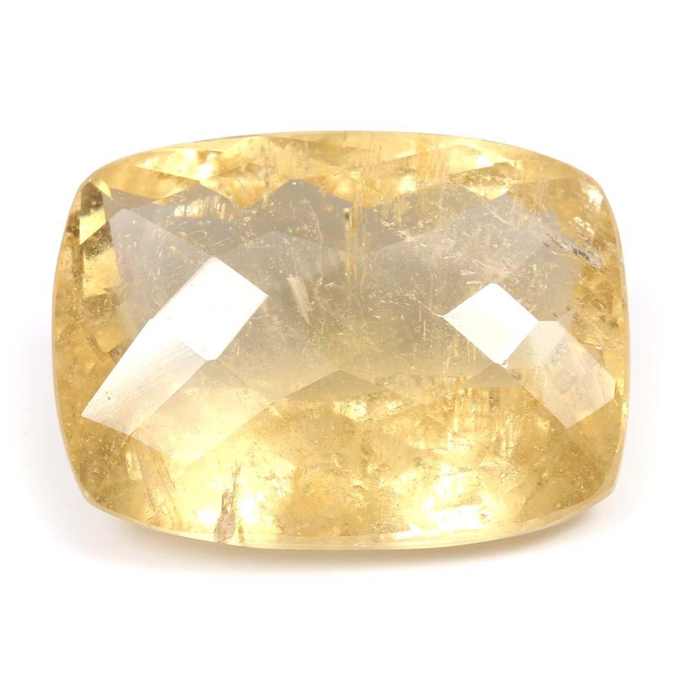 Loose 38.28 CT Golden Beryl Stone
