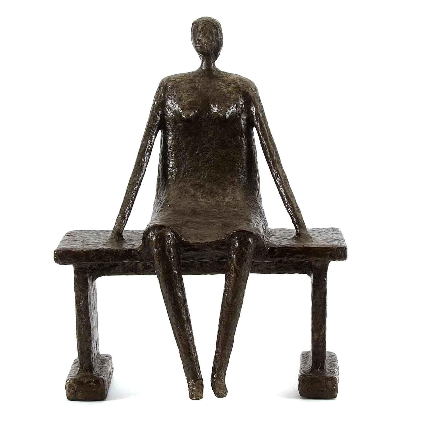 """Mixed Media Sculpture by Allen Wynn """"Woman Watching"""""""