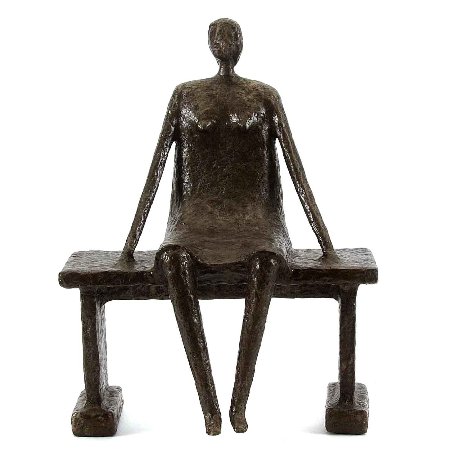 "Mixed Media Sculpture by Allen Wynn ""Woman Watching"""